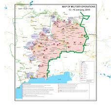 Map Ukraine Map Of Hostilities In Ukraine 13 U2013 16 Jan 2015 The Oceania Saker