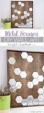 I Love Diy Home Decorating by Diy Metal Hexagon Wall Art A Houseful Of Handmade
