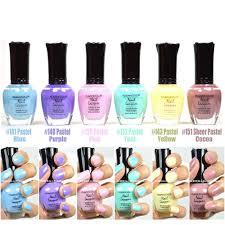 kleancolor nail polish pastel colors lot of 6 lacquer colors