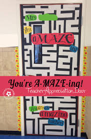 Red Ribbon Door Decorating Ideas Teacher Appreciation Ideas For Door Decorating Onecreativemommy Com