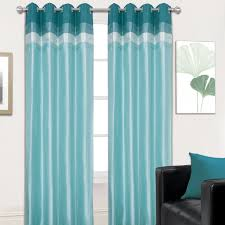 Teal Curtains Eyelet Curtains