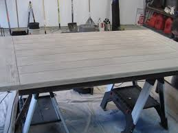 Dining Room Table  Before  After Houston Furniture Refinishing - Refinish dining room table