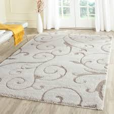 Brown And Beige Area Rug Shag 10 X 13 Area Rugs Rugs The Home Depot