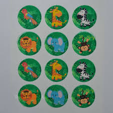 safari cake toppers edible cupcake toppers x 12 jungle animals design