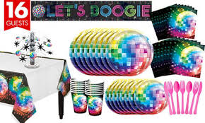 themed party supplies disco 70s theme party supplies party city