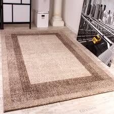 Teppich Schlafzimmer Beige Bordüre Creme Design Teppiche