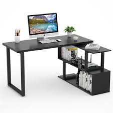 Modern L Shape Desk Modern L Shaped Desk 55 Rotating Corner Computer Desk Study