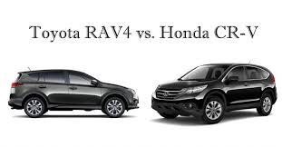 toyota rav vs honda crv compact suv comparison toyota rav4 vs honda cr v