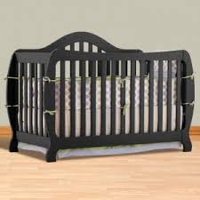 Fixed Side Convertible Crib Storkcraft Monza I Fixed Side Convertible Crib In Black