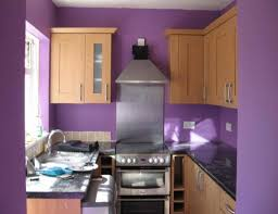 Best Wall Color For Kitchen by Red Wall Color Plus Light Brown Wooden Kitchen Cabinet Plus Black