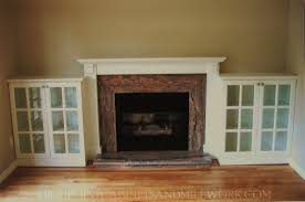 interior traditional fireplace mantel kits decor with cabinet and