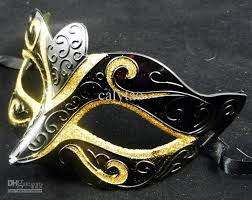 party mask gold drawing black mask half party mask venetian