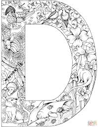 letter d with animals coloring page free printable coloring pages