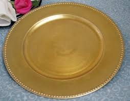 gold beaded edge clear glass chargers plates for sale artfire
