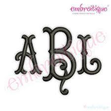 3 letter monogram alphabets embroidery fonts tillman classic tuscan 3 letter