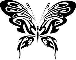 free vector graphic abstract black butterfly free