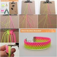 diy make bracelet images How to make a neon knotted bracelet pictures photos and images jpg