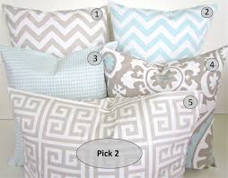 light blue accent pillows baby blue throw pillows pillow cushion blanket