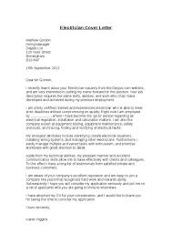 cover letter electrician cover letter example for an electrician