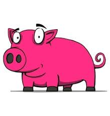cartoon pig royalty free vector image vectorstock