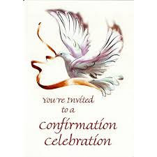 confirmation invitation confirmation invitations dove the catholic company
