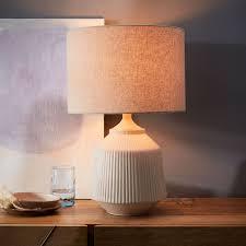 roar rabbit ripple ceramic table lamp large white west elm