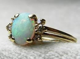 opal rings unique images Opal ring 14k diamond opal engagement ring vintage australian opal jpg