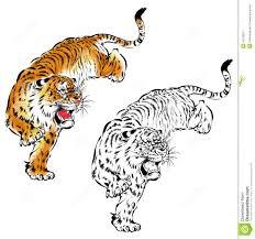 japanese tiger stock illustration illustration of handmade 42379651