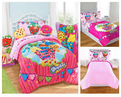 girls double bedding reversible little girls bedding sets in red and pink colors