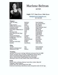 example of acting resume theater acting resume example