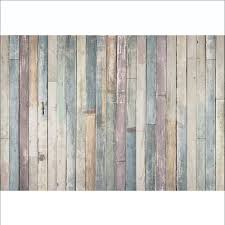 rustic wood 1wall shabby chic pastel coloured rustic wood planks mural