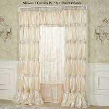radiance shirred faux silk window treatment
