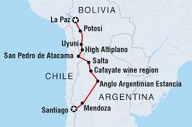 Atacama Desert Map Santiago To La Paz Chile Tours Intrepid Travel Us
