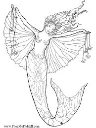 printable coloring pages of mermaids detailed coloring pages for adults coloring pages she has the