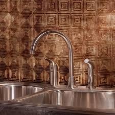 In X  In Traditional  PVC Decorative Backsplash Panel In - Bronze backsplash tiles