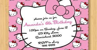 Hello Kitty Birthday Invitation Card Fascinate Impression Contemporary 60th Birthday Cards Dad Splendid
