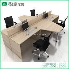 Office Desk Workstation T16 All Melamine Laminated Sheet Mfc Modern Office Desk Side
