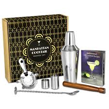 cocktail shaker set manhattan cocktail shaker set in gift box with accessories