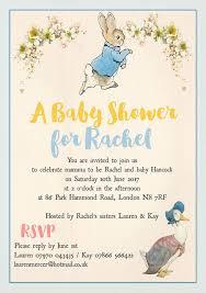 rabbit invitation rabbit jemima puddle duck baby shower invitation from