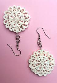 quiling earrings quilled earrings snowflake quilling quilling