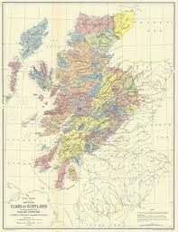 Chicago On The Map by The Map Of Scotland Shows The Locations Of The Clans And The Land