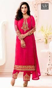 rani pink colour buy latest designer casual saree bollywood bridal