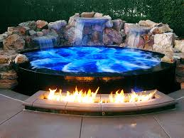 Fire Pit With Water Feature - greecian pools bakersfield ca fire features