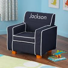 Toddler Living Room Chair Personalized Navy Toddler Chair With Slip Cover Dibsies