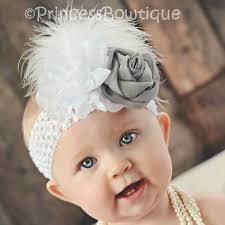 vintage headbands silver white vintage infant headband princess bowtique