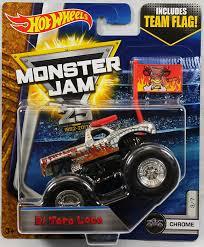 hotwheels monster jam trucks wheels monster jam truck 1 64 scale el toro loco chrome 3 7
