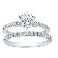 6 prong engagement ring 6 prong solitaire engagement ring with 0 30ct pave shank