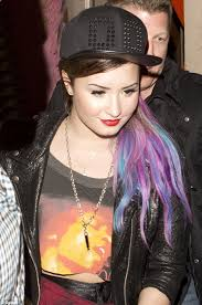 demi lovato hair extensions demi lovato steps out with multi coloured hair extensions daily