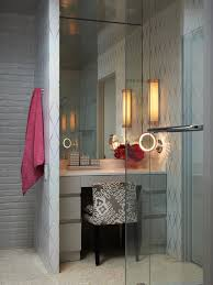 magnifying makeup mirror bathroom contemporary with bow pulls