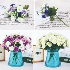 Home Decor Silk Flower Arrangements French Hyacinth Floral Bouquet Artificial Silk Fake Vanilla Flower